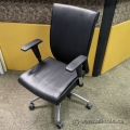 Leather Back w/ Chrome Base Office Task Chair