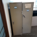 Safco Metal Narrow Profile Storage Cabinet, Locking