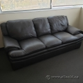 Black Sofa Couch w/ Low Arms