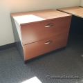 2 Drawer Lateral File Cabinet w/ Dark Trim, Locking