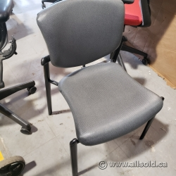 Grey Home or Office Guest Chair w/o Arms