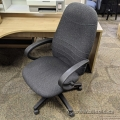 Grey Height Adjustable Office Chair w/ Fixed Arms