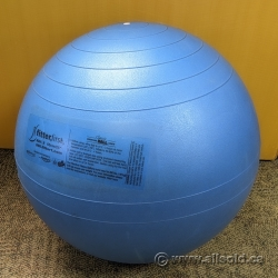 FitterFirst Classic Exercise Ball, Blue 65cm