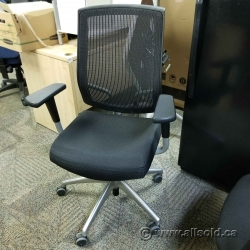 Sit on it Seating Focus Task Chair Black Mesh Chrome Base