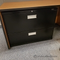 Black Staples 2 Drawer Lateral File Cabinet, Locking