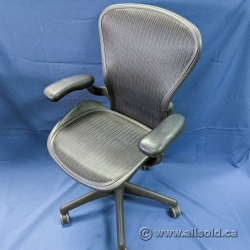 "Herman Miller Aeron Classic ""B"" Size Mesh Chair w/ Fixed Arms"