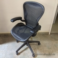 """Herman Miller Aeron Classic """"A"""" Size Mesh Chair w/ Fixed Arms"""