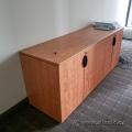 Maple 4 Door Storage Credenza Cabinet