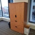 Maple 2 Drawer, 2 Door Storage Cabinet w/ Lower Handles