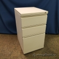 Meridian Off White 3 Drawer Rolling File Pedestal