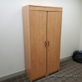 Maple 2 Door Storage Cabinet, Locking