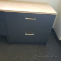 "Artopex 36"" Grey 2 Drawer Lateral File Cabinet w/ Light Tone Top"