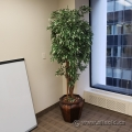 Tall Artificial Silk Plant w/ Large Vase Base