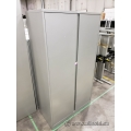 Steelcase 66 in silver 2 Door Storage Cabinet, Locking