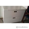 Hon Grey 2 Drawer Lateral File Cabinet, Locking