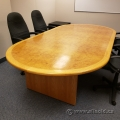 120in Birds Eye Maple Racetrack Boardroom Table w/ Blonde Trim