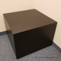 Black Cube Side End Table