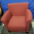 Red Fabric Reception Waiting Room Sofa Armchair