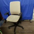 Steelcase Amia Grey Tan Adjustable Ergonomic Task Chair w Arms