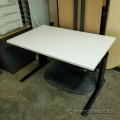 "Off White Height Adjustable Table 48"" x 30"""