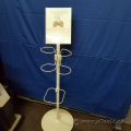 Floor Stand with Sign Holder and Container Holder