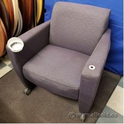 Purple Armchair w/ Swivel Cup Holder