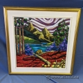 "K N Swanson ""Morraine Lake Bear"" Oil on Canvas 30"" x 30"""