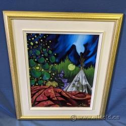 "K N Swanson ""Elk Moon"" Oil on Canvas 20"" x 16"""