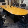 9 Foot Boardroom Table w/ Black Trim