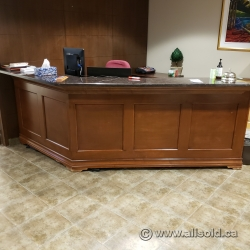 Reception Desk with Granite Style Transaction Counter