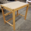 Wooden Drafting Table w/ Adjustable Work Surface and Drawing Pad