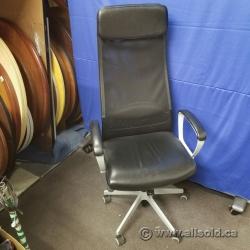 Black Leather Markus Ikea Office Task Chair