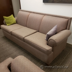 Light Brown Three Seat Sofa Couch with Armchair