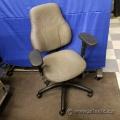 Tan Pattern Global Tritek 749 Ergo-Select Mid Back Task Chair