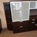 Espresso 2 Drawer, 2 Door Storage Cabinet