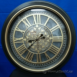 "23"" Bronze Decorative Wall Clock"