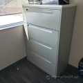 "36"" Grey Steelcase 4 Drawer Lateral Cabinet with Light Top"