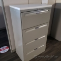 """30"""" Grey Steelcase 4 Drawer Lateral File Cabinet, Off White Top"""