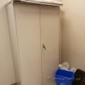 Global Beige 2 Door Metal Storage Cabinet, Locking