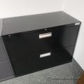 Hon 2 Drawer Black Lateral File Cabinet, Locking