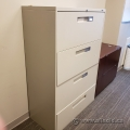 """36"""" Beige 4 Drawer Lateral File Cabinet, Locking"""