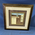 Abstract Square Framed Print under Glass