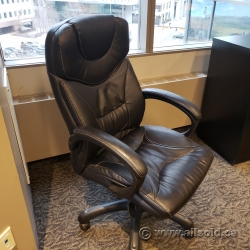 Black Executive Leather Office Chair