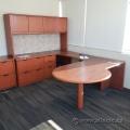 Autumn Maple U/C Suite Desk w/ RH Bullet