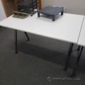 Ikea Gallant White Adjustable Desk or Table Chrome Legs