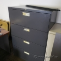 Hon Black 4 Drawer Lateral File Cabinet, Locking