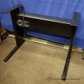 Teknion Torsion Sit Stand Adjustable Desk Black Base, 34in wide