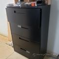 Global Black 4 Drawer Lateral File Cabinet, Locking