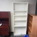 "White Bookshelf Bookcase w/ Adjustable Shelves 31"" x 79"""