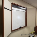 Maple 2 Door Enclosed Egan White Board with Projection Screen